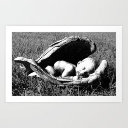 Sleeping Cherub Art Print