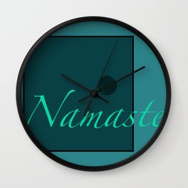 Namaste Blue Wall Clock