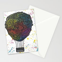 Colourful Hot Air Ballon Stationery Cards