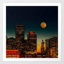 Boston Pink  Moon Art Print