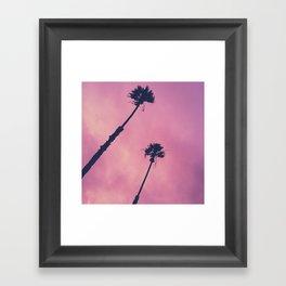 Pink Haze | Palms Framed Art Print