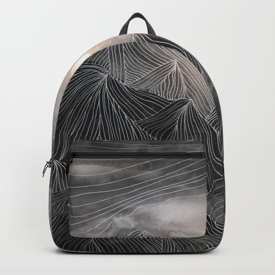 Lines in the mountains VIII Backpack