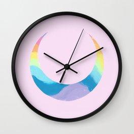 Rainbow Moon Wall Clock