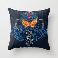 pacific rim Throw Pillows featuring Pacific Rim by Charleighkat