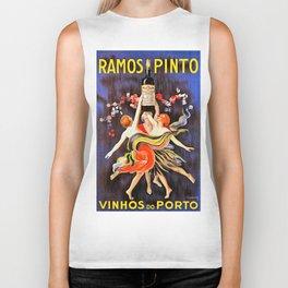 Vintage poster - Ramos Pinto Biker Tank