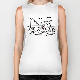 Girl on the beach Biker Tank