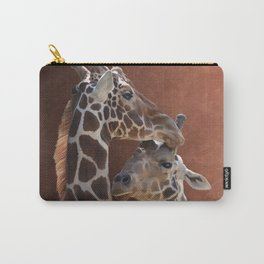 Endearing Giraffes Carry-All Pouch