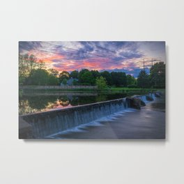 Wehr's Dam Spectacular Sunset Metal Print
