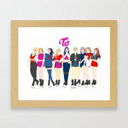 TWICE Framed Art Print