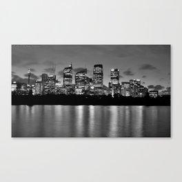 Sydney Night Skyline Canvas Print
