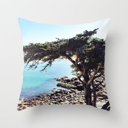 Overlooking Carmel By The Sea Throw Pillow