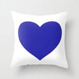 Heart (Navy Blue & White) Throw Pillow