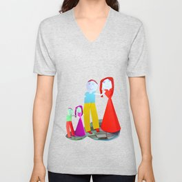 Dance me to the end of love   Kids Painting by Elisavet Unisex V-Neck
