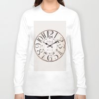 antique Long Sleeve T-shirts featuring Antique Clock by Nikki Vancas