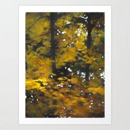 Fall Yellow Trees Art Print