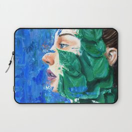 Leaves and face Laptop Sleeve