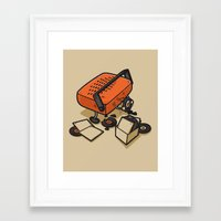 record Framed Art Prints featuring RECORD EATER by Letter_q