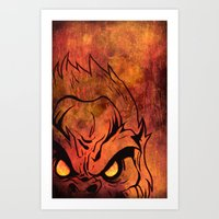 sasquatch Art Prints featuring Sasquatch by Laurelle Armet