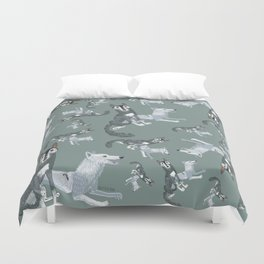 Totem Canadian wolf 2 Duvet Cover