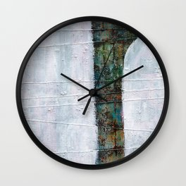 Forest White  Wall Clock