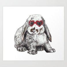 Lolita Bunny Art Print