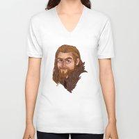 fili V-neck T-shirts featuring Fili - Dean O'gorman  by Blanca Limón