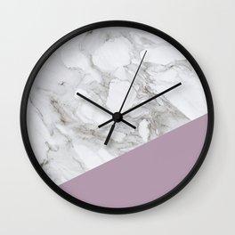 Baesic Purple Marble Wall Clock