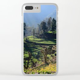 Himalayan Stepped Fields, Nepal Clear iPhone Case