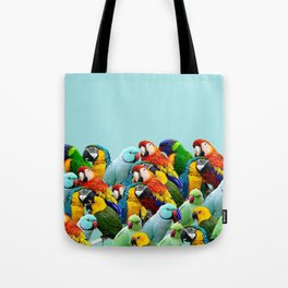 Sky blue parrots home decor Tote Bag