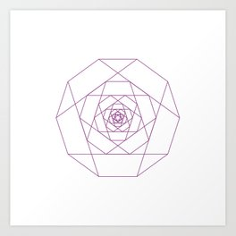 #281 Another rose – Geometry Daily Art Print