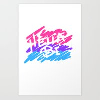 bisexual Art Prints featuring bisexual by thetalkinghair