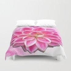Pretty in Pink Dahlia Duvet Cover