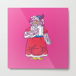 Lady Frizzles Metal Print