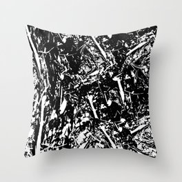 Decaying Throw Pillow