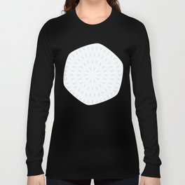 PCT2 Fractal in Ice Blue on White Long Sleeve T-shirt