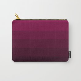 Black and Burgundy Ombre striped Carry-All Pouch