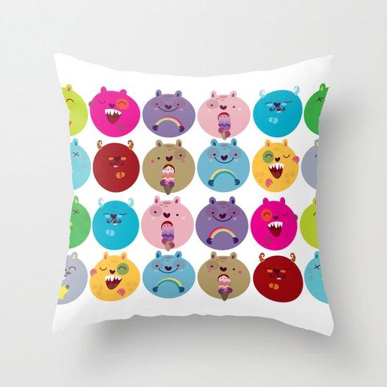 Cute bunnyballs Throw Pillow