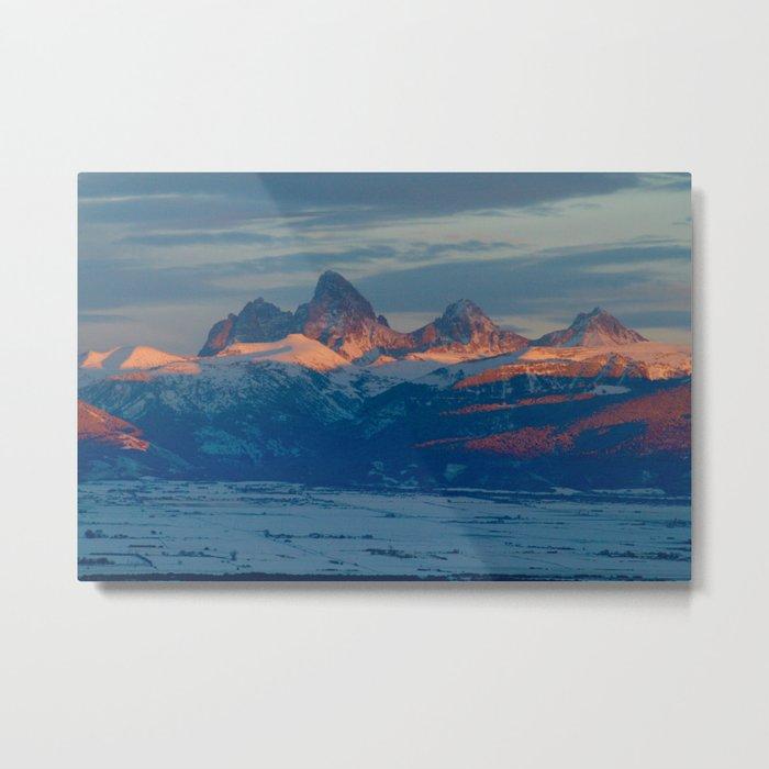 Teton Sunset Metal Print