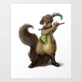 """Chewey Nougat"" The Squirrel Art Print"