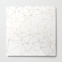 Geometric Gold Minimalist Design Metal Print