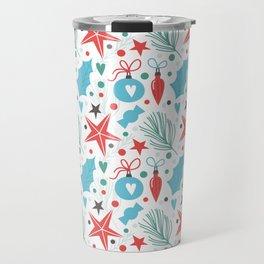 Lovely Christmas Pattern Travel Mug