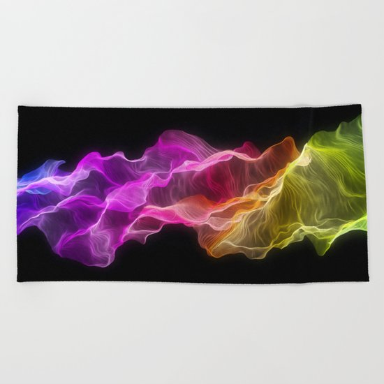Rainbow satin Beach Towel