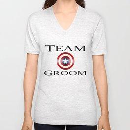 Capt America Team Groom Unisex V-Neck