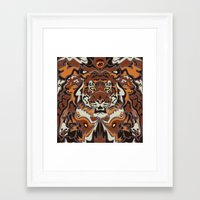 tigers Framed Art Prints featuring Tigers by Darish