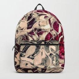Dark Magenta Vintage Distressed Abstract Backpack