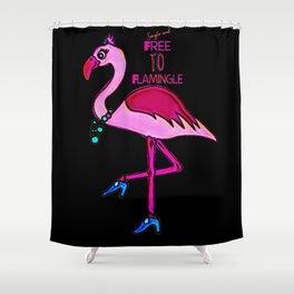 Flamingo bird Single Free To Flamingle Shower Curtain