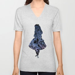 Alice in the Sky Unisex V-Neck