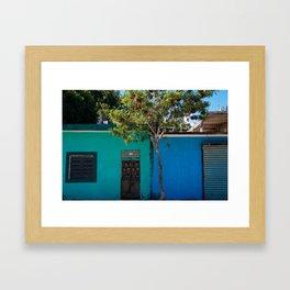 The in-between. Framed Art Print