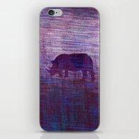 rhino iPhone & iPod Skins featuring Rhino by Inmyfantasia