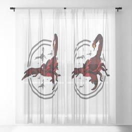 Red Scorpion 2 Sheer Curtain